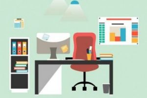 flat-design-of-modern-workspace-vector-13875289